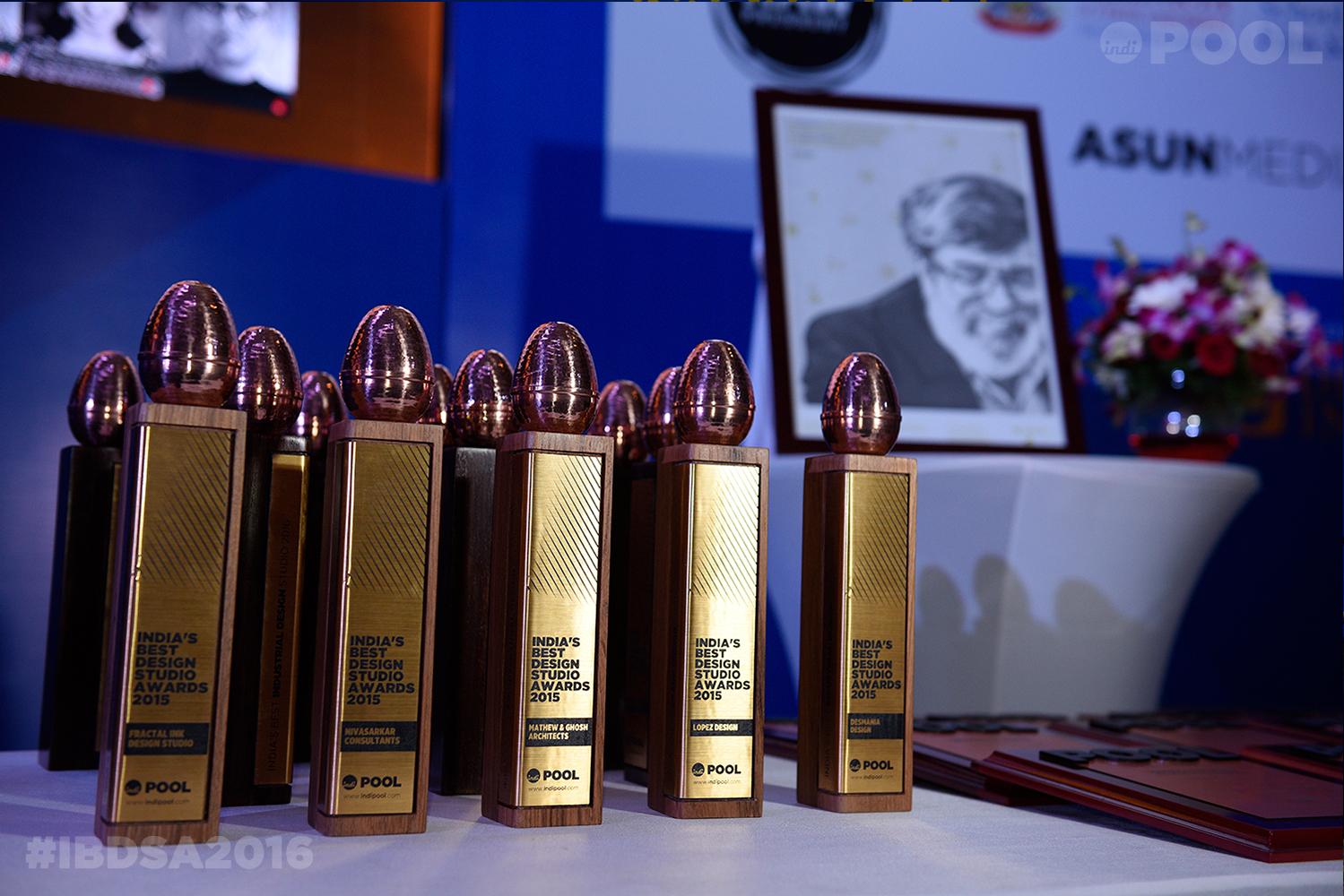 India's Best Design Studio Awards Trophies