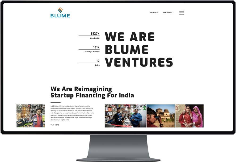 Blume Ventures Desktop